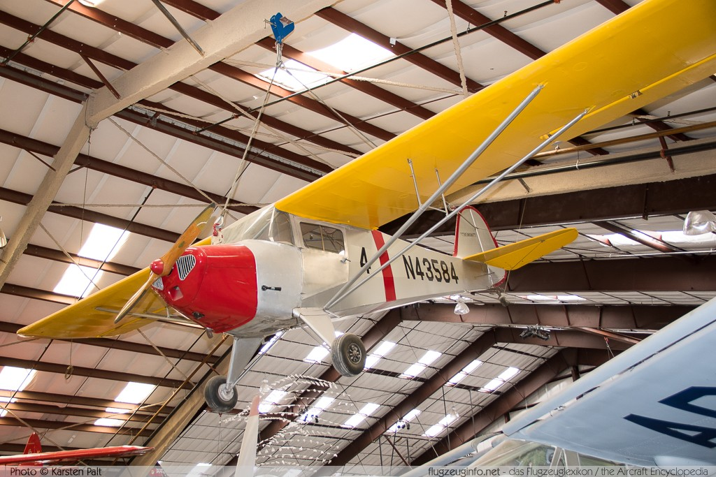 Taylorcraft BC-12D Twosome  N43584 7243 Pima Air and Space Museum Tucson, AZ 2015-06-03 � Karsten Palt, ID 11208