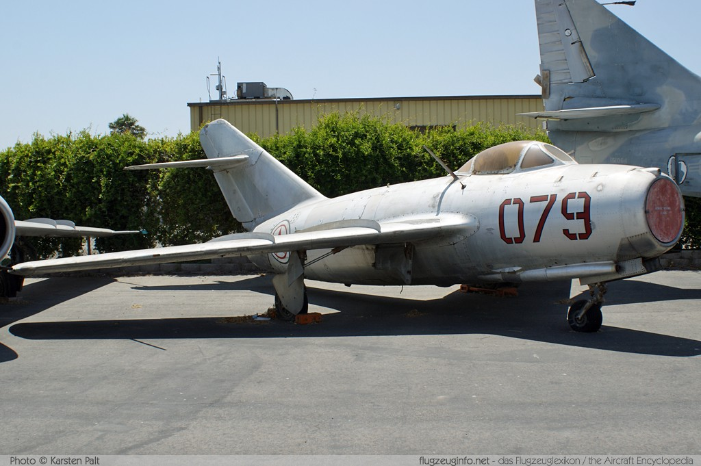 Mikoyan Gurevich MiG-15bis  079  Planes of Fame Aircraft Museum Chino, CA 2012-06-12 � Karsten Palt, ID 6100