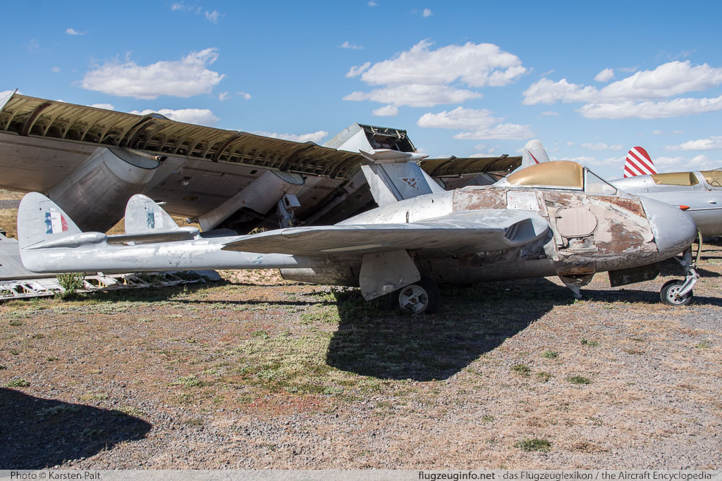 De Havilland DH 100 Vampire F.3 Royal Canadian Air Force 17018 EEP.42310 Planes of Fame Air Museum Valle Valle, AZ 2016-10-11 � Karsten Palt, ID 13284
