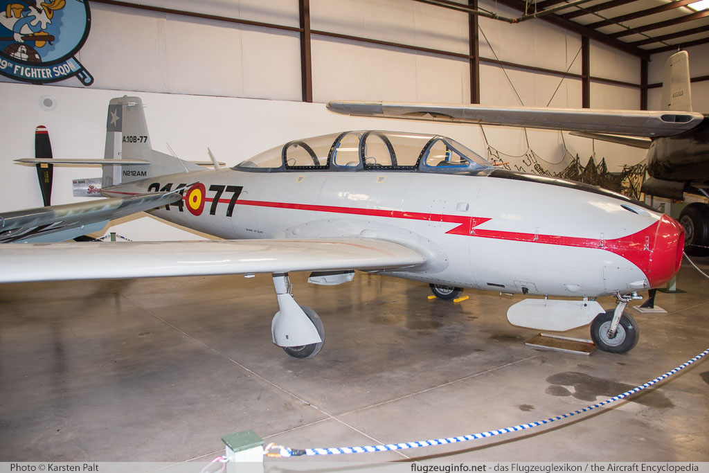 Hispano HA-220D Super Saeta  N212AM 20/83 Planes of Fame Air Museum Valle Valle, AZ 2016-10-11 � Karsten Palt, ID 13291