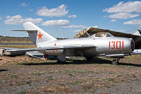 Mikoyan Gurevich / WSK PZL-Mielec Lim-2 (MiG-15bis) Peoples Liberation Army Air Force 1301 1B-01301 Planes of Fame Air Museum Valle Valle, AZ 2016-10-11, Photo by: Karsten Palt