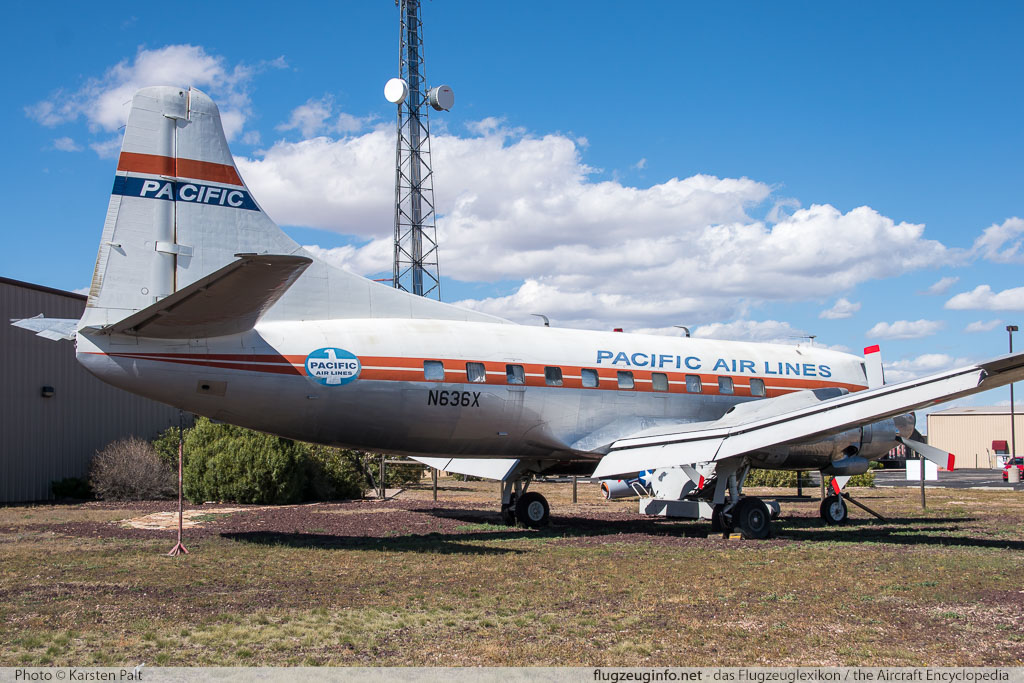 Martin 4-0-4 Skyliner Pacific Air Lines N636X 14135 Planes of Fame Air Museum Valle Valle, AZ 2016-10-11 � Karsten Palt, ID 13297