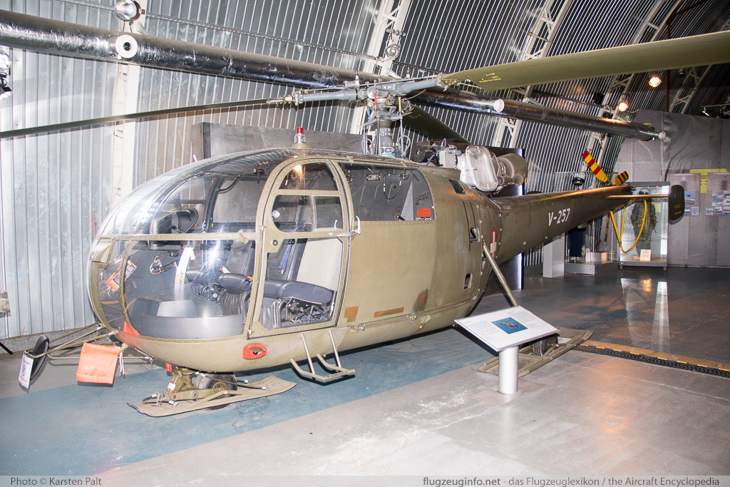 Aerospatiale (F+W) SE-3160 Alouette III Swiss Air Force / Schweizer Luftwaffe V-257 133/1079 Polish Aviation Museum Krakow 2015-08-22 � Karsten Palt, ID 11564