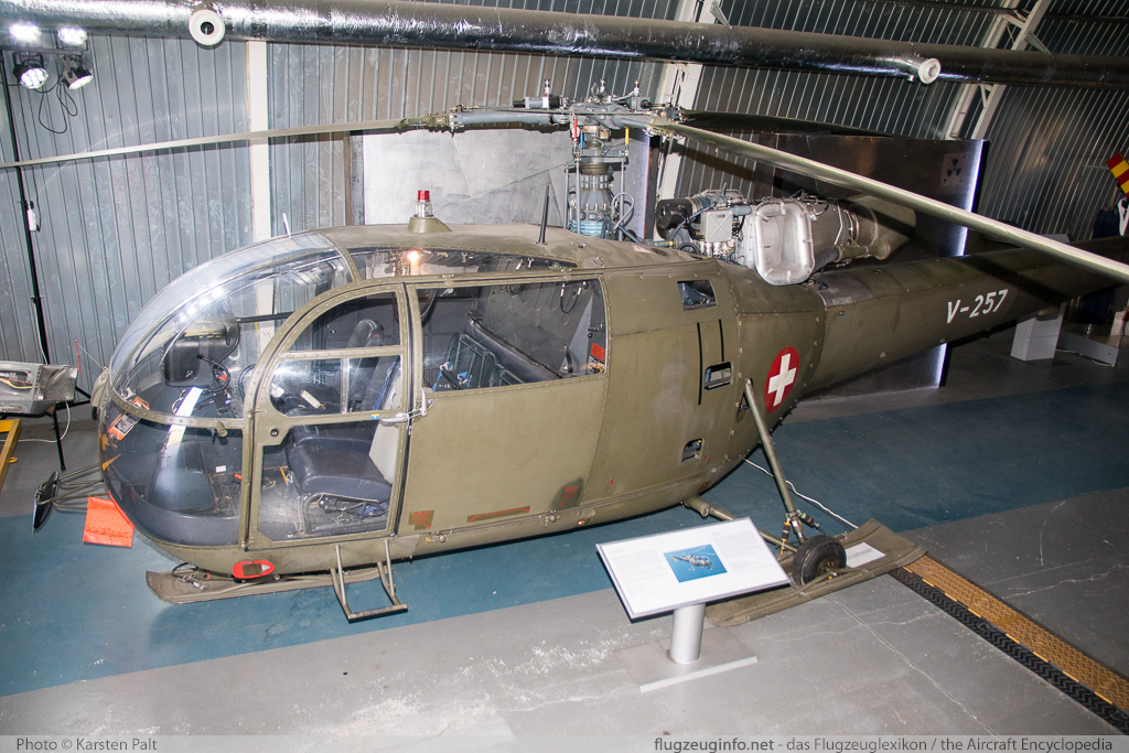 Aerospatiale (F+W) SE-3160 Alouette III Swiss Air Force / Schweizer Luftwaffe V-257 133/1079 Polish Aviation Museum Krakow 2015-08-22 � Karsten Palt, ID 11565