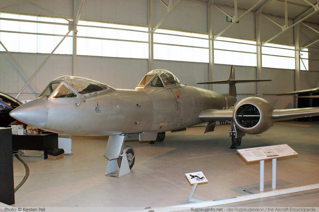 Gloster Meteor F.8 Prone Position Royal Air Force WK935  Royal Air Force Museum Cosford Shifnal, Shropshire 2013-05-17 � Karsten Palt, ID 6727