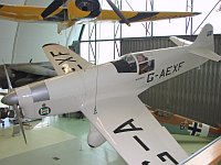 Percival Mew Gull  G-AEXF  Royal Air Force Museum London-Hendon 2008-07-16, Photo by: Karsten Palt