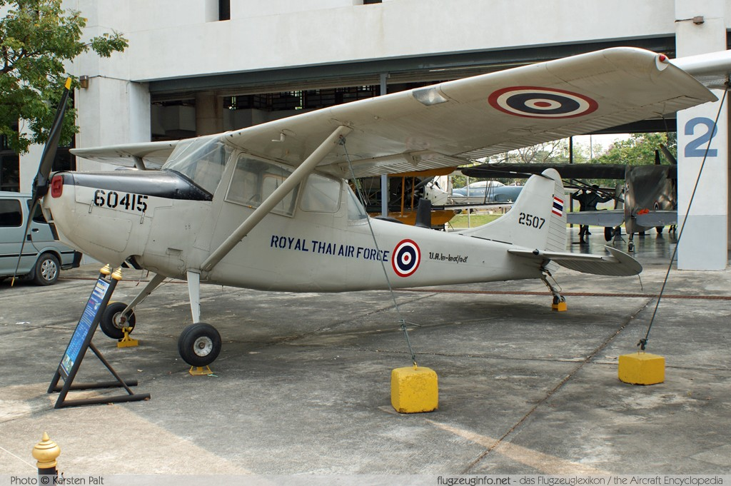 Cessna O-1A Bird Dog (305A/L-19A) Royal Thai Air Force (RTAF) T2-29/15 23629 Royal Thai Air Force Museum Bangkok 2013-02-09 � Karsten Palt, ID 6454