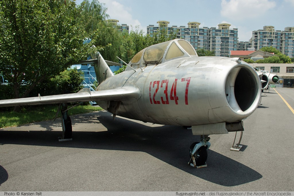 Mikoyan Gurevich MiG-15UTI Peoples Liberation Army Air Force 12347  Shanghai Aerospace Enthusiasts Center Shanghai 2014-07-20 � Karsten Palt, ID 10382