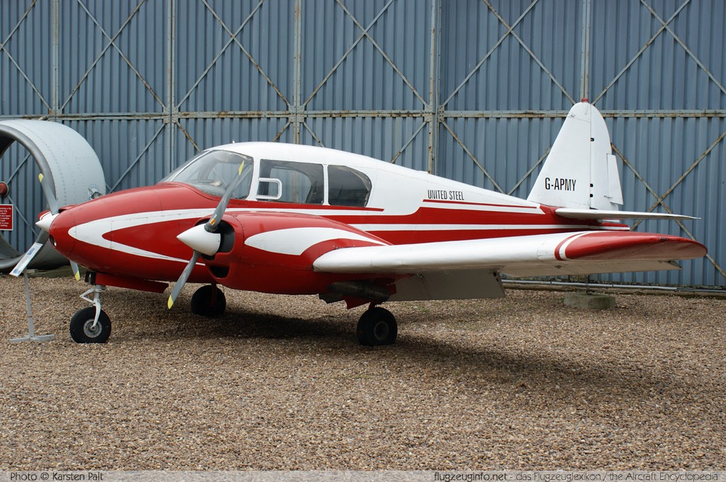 Piper PA-23-160 Apache E  G-APMY 23-1258 South Yorkshire Aircraft Museum Doncaster 2013-05-18 � Karsten Palt, ID 7001