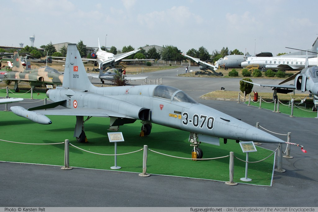 Northrop F-5A (NF-5A) Turkish Air Force 71-3070 3070 Turkish Air Force Museum Yesilkoy, Istanbul 2013-08-16 � Karsten Palt, ID 7618