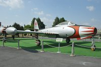Republic F-84G Thunderjet Turkish Air Force 51-10572 2442-1025B Turkish Air Force Museum Yesilkoy, Istanbul 2013-08-16, Photo by: Karsten Palt