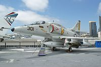 Douglas A-4F Skyhawk United States Navy 154977 13793 USS Midway Aircraft Carrier Museum San Diego, CA 2012-06-13, Photo by: Karsten Palt