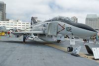 McDonnell F-4N Phantom II United States Navy 153030 1557 USS Midway Aircraft Carrier Museum San Diego, CA 2012-06-13, Photo by: Karsten Palt