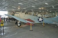 Douglas SBD-6 Dauntless United States Navy 54654 6168 USS Midway Aircraft Carrier Museum San Diego, CA 2012-06-13, Photo by: Karsten Palt