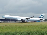 Airbus A340-313X Cathay Pacific Airways B-HXA 136  Amsterdam-Schiphol (EHAM / AMS) 2007-06-17, Photo by: Karsten Palt