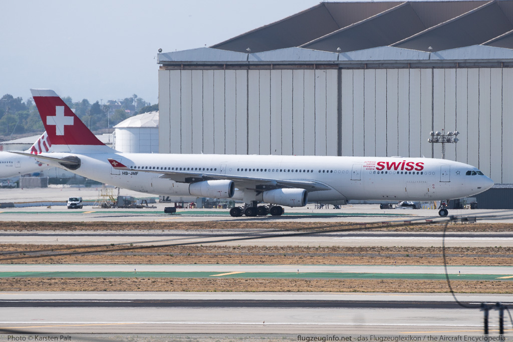 Airbus A340-313X Swiss Intl Air Lines HB-JMF 561  LAX International Airport (KLAX / LAX) 2015-06-01 � Karsten Palt, ID 11501