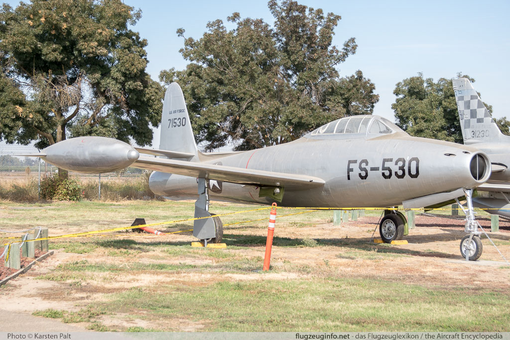 Republic F-84C Thunderjet United States Air Force (USAF) 47-1530  Castle Air Museum Atwater, CA 2016-10-10 � Karsten Palt, ID 13268