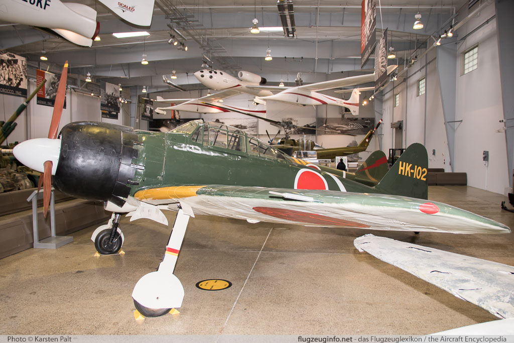 Mitsubishi A6M3 Reisen (Zero) Flying Heritage Collection N652Z 4400 Flying Heritage Collection Everett, WA 2016-04-12 � Karsten Palt, ID 12371