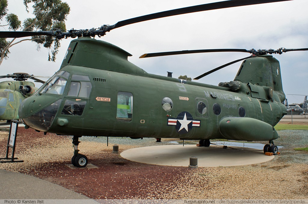 Boeing - Vertol CH-46E Sea Knight United States Marine Corps (USMC) 154803 2410 Flying Leatherneck Aviation Museum San Diego, CA 2012-06-13 � Karsten Palt, ID 5884