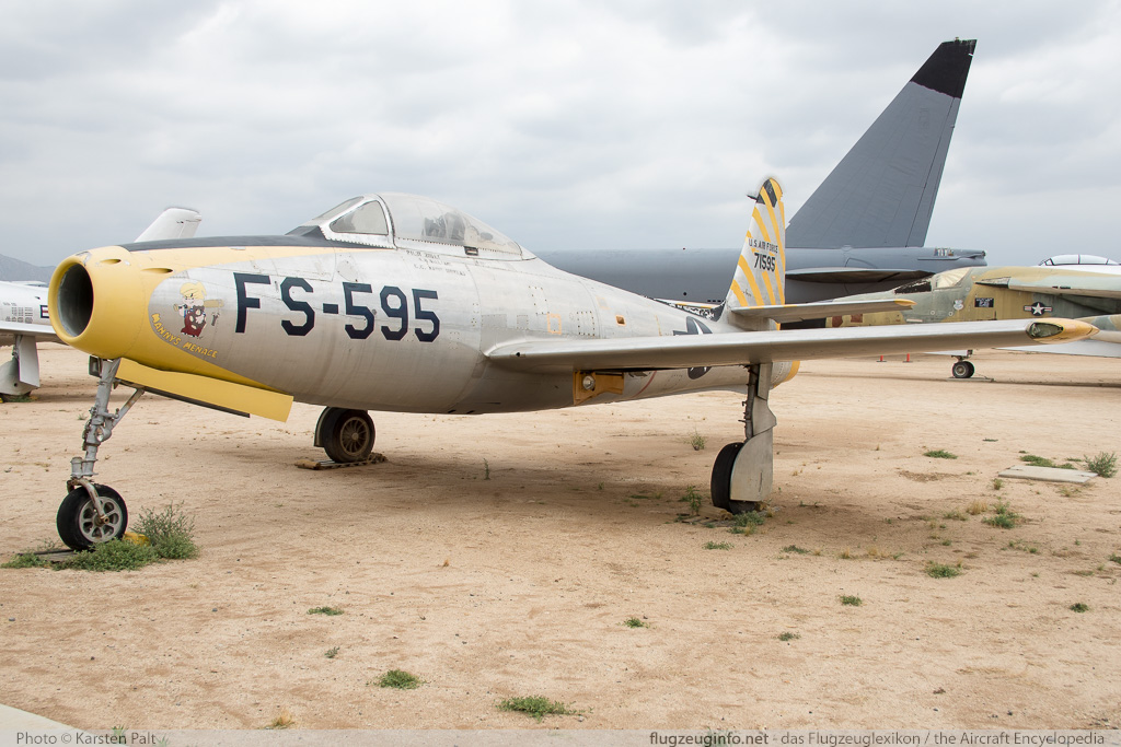 Republic F-84C Thunderjet United States Air Force (USAF) 47-1595  March Field Air Museum Riverside, CA 2015-06-04 � Karsten Palt, ID 11348