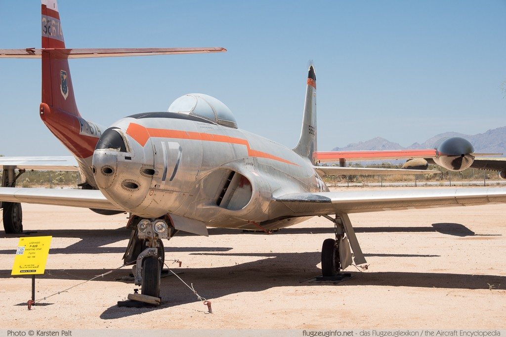 Lockheed P-80B Shooting Star United States Air Force (USAF) 45-8612 080-1826 Pima Air and Space Museum Tucson, AZ 2015-06-03 � Karsten Palt, ID 11095
