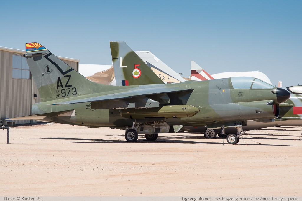 Ling-Temco-Vought LTV A-7D Corsair II United States Air Force (USAF) 70-0973 D-119 Pima Air and Space Museum Tucson, AZ 2015-06-03 � Karsten Palt, ID 11112
