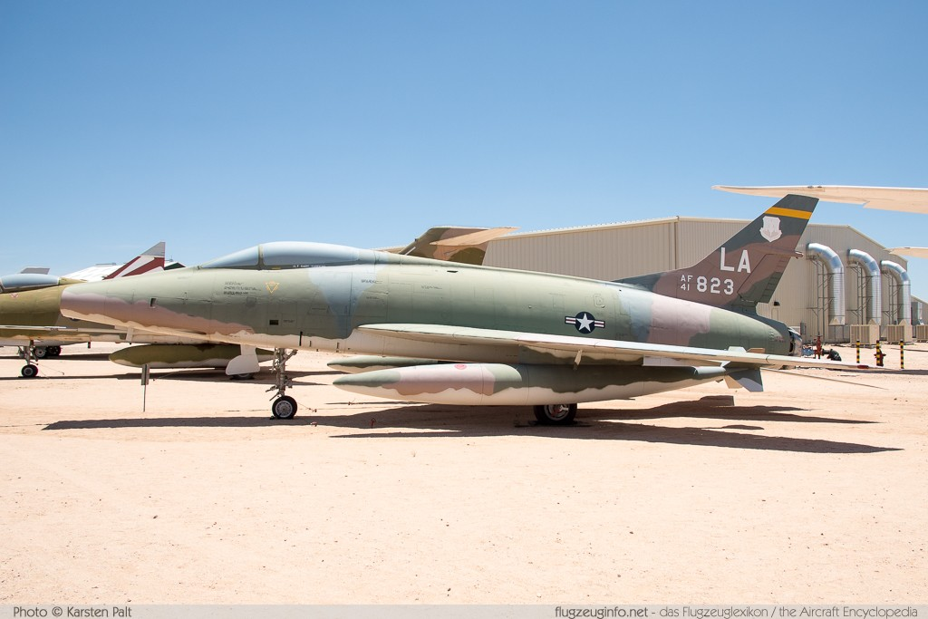 North American F-100C Super Sabre United States Air Force (USAF) 54-1823 217-84 Pima Air and Space Museum Tucson, AZ 2015-06-03 � Karsten Palt, ID 11153