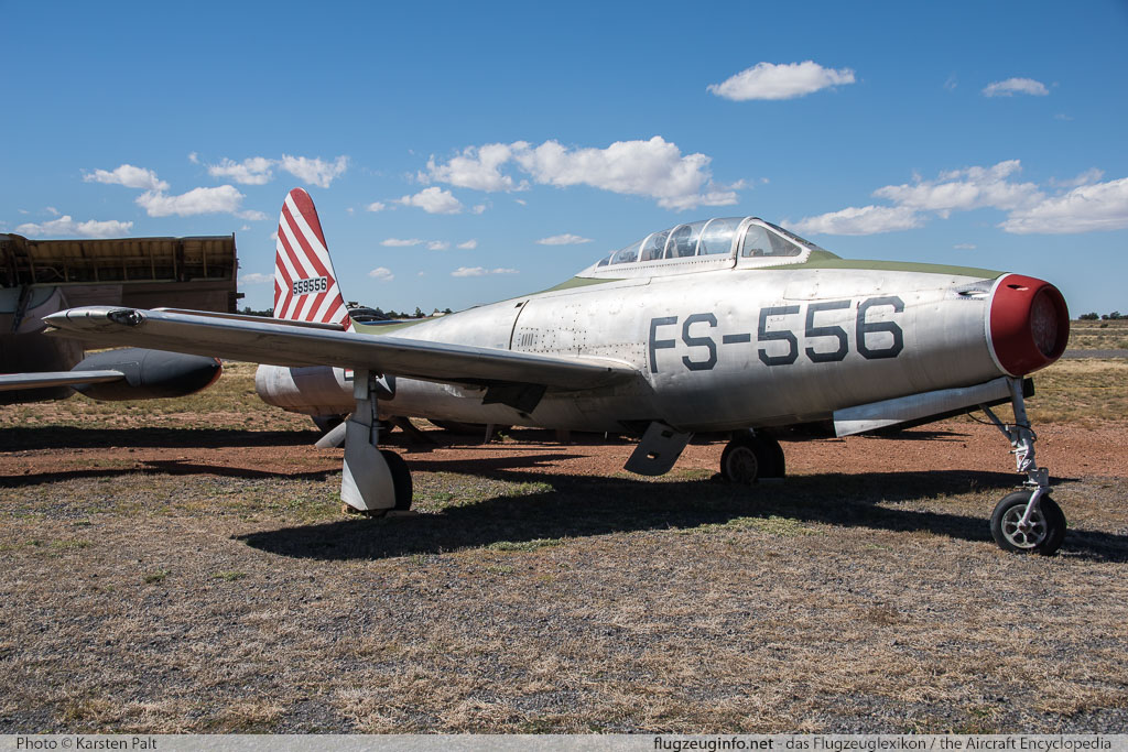 Republic F-84B Thunderjet United States Air Force (USAF) 45-59556  Planes of Fame Air Museum Valle Valle, AZ 2016-10-11 � Karsten Palt, ID 13305