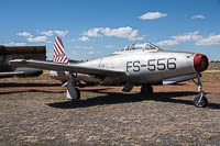Republic F-84B Thunderjet United States Air Force (USAF) 45-59556  Planes of Fame Air Museum Valle Valle, AZ 2016-10-11, Photo by: Karsten Palt