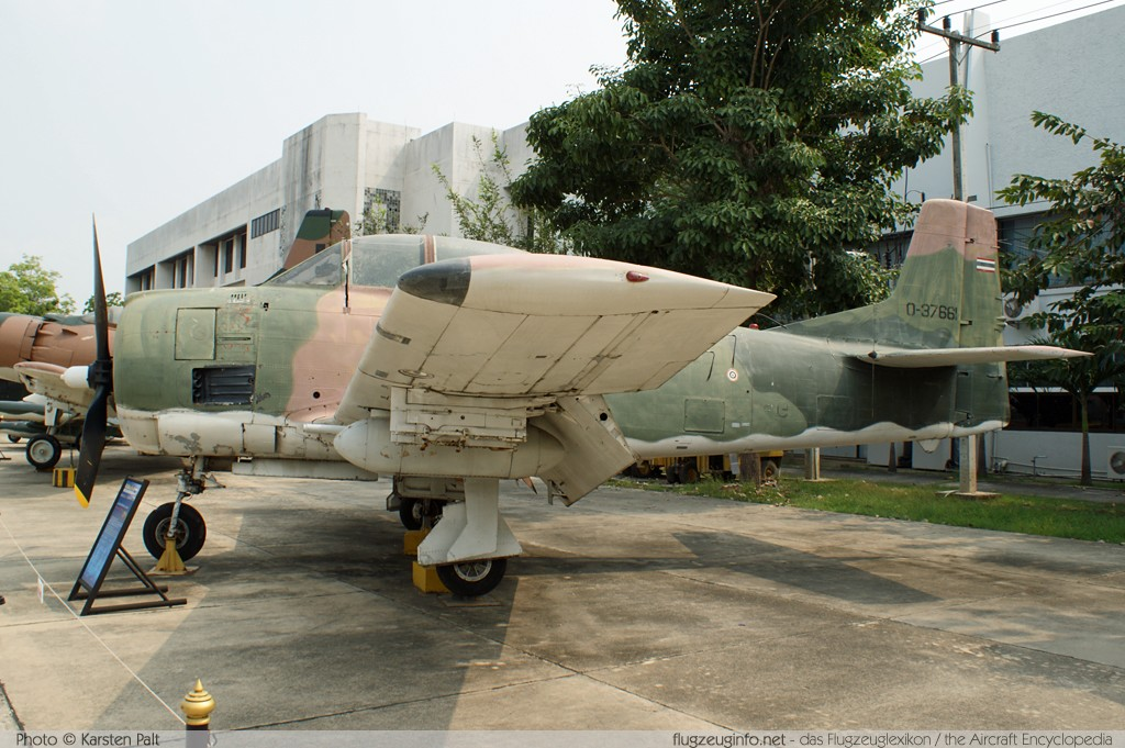 North American AT-28D Trojan Royal Thai Air Force (RTAF) JF13-106/14 200-24 Royal Thai Air Force Museum Bangkok 2013-02-09 � Karsten Palt, ID 6397