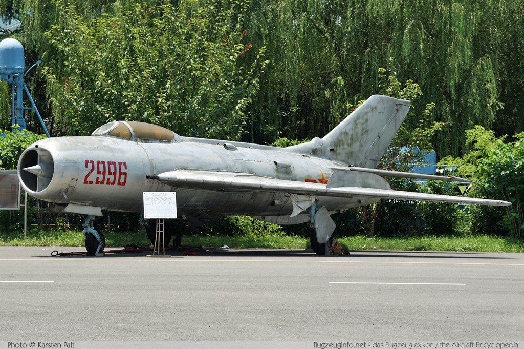 Shenyang J-6I Peoples Liberation Army Air Force 2996 0114 Shanghai Aerospace Enthusiasts Center Shanghai 2014-07-20 � Karsten Palt, ID 10389