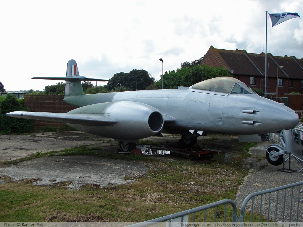 Gloster Meteor F.8 Royal Air Force WA829  Tangmere Military Aviation Museum Tangmere 2008-07-10 � Karsten Palt, ID 1038