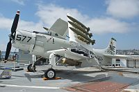 Douglas AD-4W Skyraider United States Navy 127922 7937 USS Midway Aircraft Carrier Museum San Diego, CA 2012-06-13, Photo by: Karsten Palt